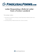 Letter Requesting A Referral Letter From A Former Landlord