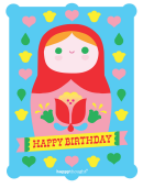 Matryoshka Doll Birthday Poster Template