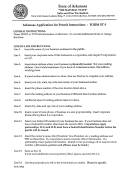 Instructions For Form St-1 - Arkansas Application For Permit