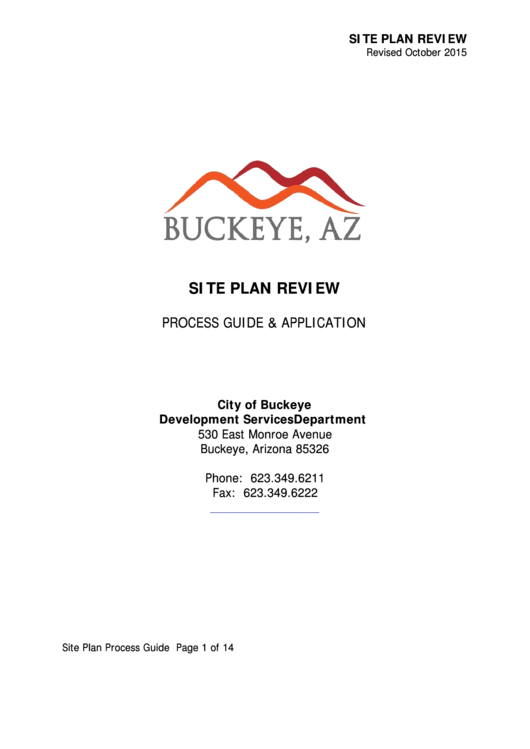 Site Plan Review Process Guide & Application - City Of Buckeye