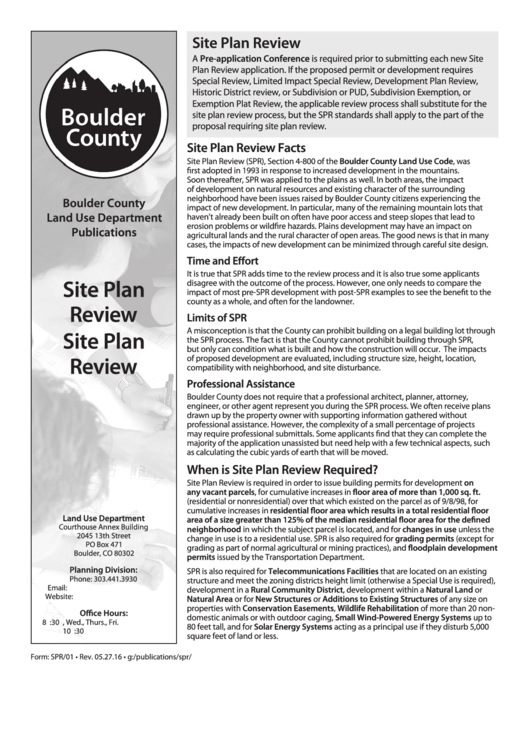 Site Plan Review - Boulder County Land Use Department