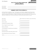 Form Nhjb-2942-pe - Summary Sheet For Schedule A