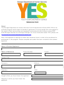 Reference Form - Georgia Department Of Human Services Youth Empowerment Series