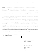 Format For Certificate To Be Obtained From Infertile Couple