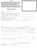 Claim Of Lien - State Of Florida