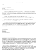 Sample Letter To Judge Written By An Extern Applicant