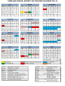 Kaneland School District 302 Teacher Calendar - 2015-2016