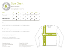 Greenlight Apparel Long Sleeve Shirts Men/unisex Size Chart