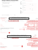 Form F-7004 - Change Of Address Or Business Name - Florida Department Of Revenue