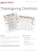 Thanksgiving Checklist Templates
