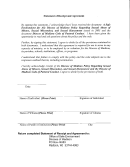 Statement Of Receipt And Agreement Template