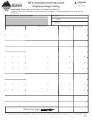 Montana Form Ui-5a - Mtq Unemployment Insurance Employee Wage Listing