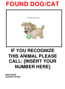 Found Dog/cat Poster Template