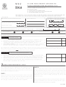 Form Nyc-114.6 - Claim For Credit Applied To Unincorporated Business Tax - 2007