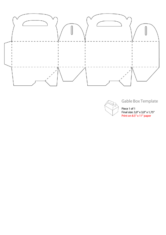 Top Gable Box Templates free to download in PDF format