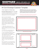 Coin Envelope Template - 3