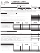 Form Nyc 9.5utx - Claim For Reap Credit Applied To The Utility Tax - 2007