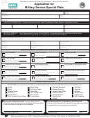 Form Mvd-10353 - Application For Military Service Special Plate