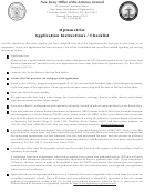 Application For An Optometry License - New Jersey State Board Of Optometrists