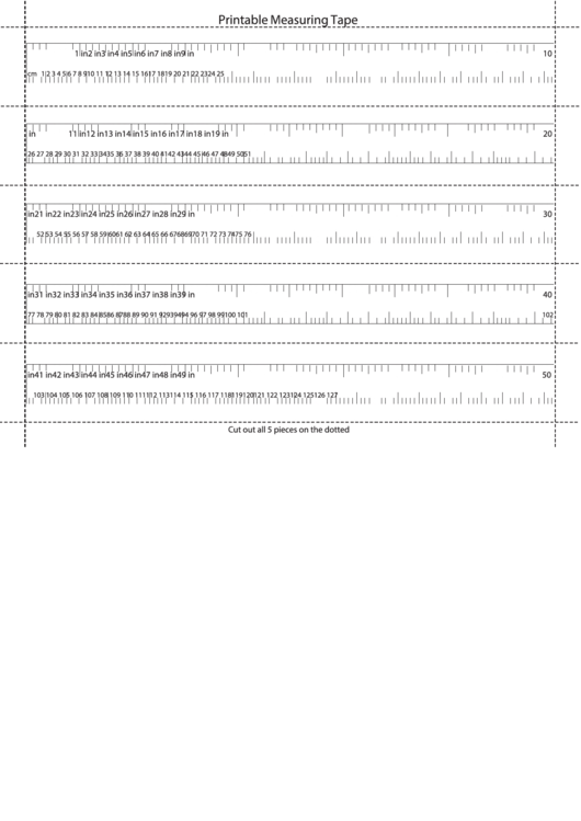 Printable Measuring Tape Printable Pdf Download