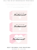 Will You Be My Bridesmaid - Card Template