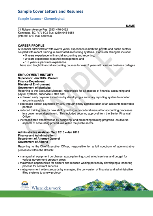 Sample Cover Letters And Resumes printable pdf download