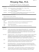 Medical Doctor Sample Resume Template