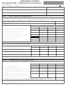 Virginia Form 500c - Underpayment Of Virginia Estimated Tax By Corporations - 2011