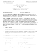 Form Cacl 280.151 - Facing Page For Application For A License Under The Capital Access Company Law