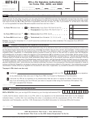 Form 8879-ex - Irs E-file Signature Authorization For Forms 720, 2290, And 8849