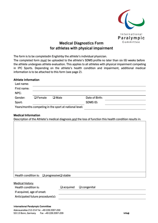 Top 11 Medical Diagnostic Form Templates free to download in