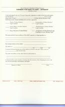 Form Dhr/ssa 554 - Consent For Health Care - Affidavit
