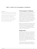 S&u-6, Sales Tax Exemption Certificates Instructions And Samples