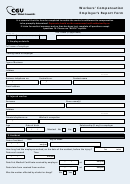 Form Wor0028a - Workers' Compensation Employer's Report Form