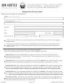 Form 562 - Filing Form Cover Letter