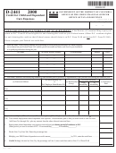 Form D-2441 - Credit For Child And Dependent Care Expenses - 2000