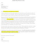 Sample Psa Director Letter