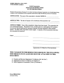 Form Dpr-dvinc - Articles Of Dissolution By Incorporator(s) For A Profit Corporation