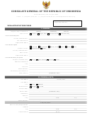 Visa Application Form - Consulate General Of The Republic Of Indonesia