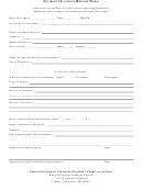 Incident/accident Report Form