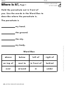 Kids Activity Sheet - Parachutes And Airplanes