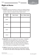 Chemistry Worksheet - Right At Home