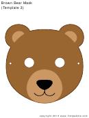 Brown Bear Mask Template
