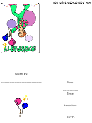 1970's Party Invitation Template