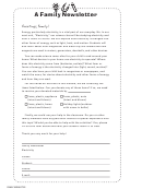 Electricity Family Newsletter Template