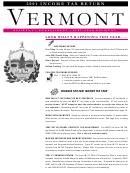 Vermont Income Tax Return - 2001