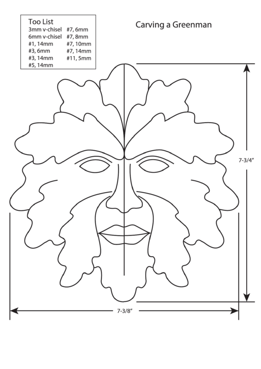 Greenman Carving Template