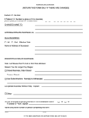 Notice Of Change Form