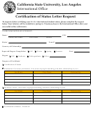 Certification Of Status Letter Request Form
