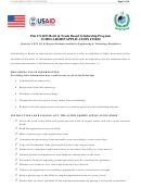 Scholarship Application Form - Pak Usaid Merit & Needs Based Scholarship Program